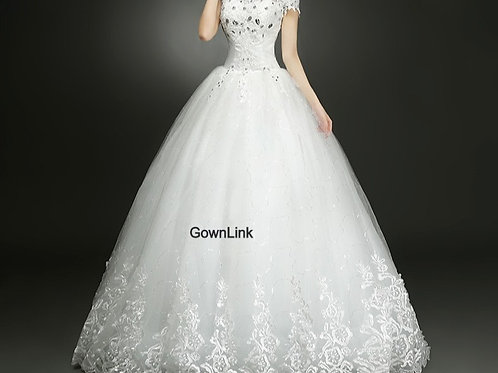 Christian & Catholics Wedding Bridal Ball Gown GLHMD16050083 With Sleeves