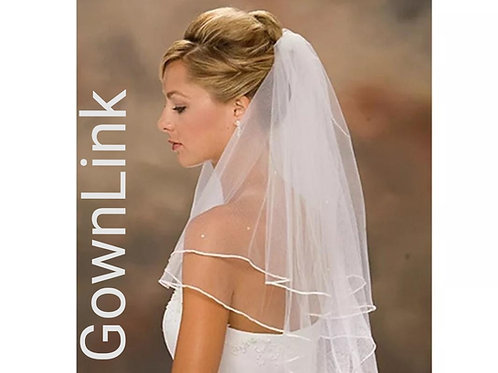Christian Wedding Short  White Veil  1.5 metre with Comb India