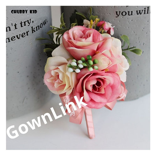 Gownlink Boutonniere  Christian Wedding Groom Coat Flower  (4.5*3 Inch ) India