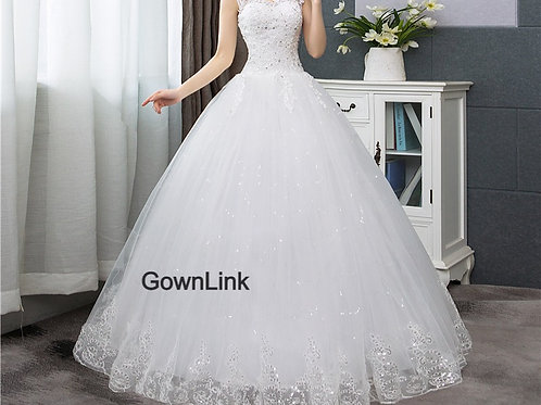 Christian & Catholics Wedding Bridal Ball Gown HSD189C With Sleeves