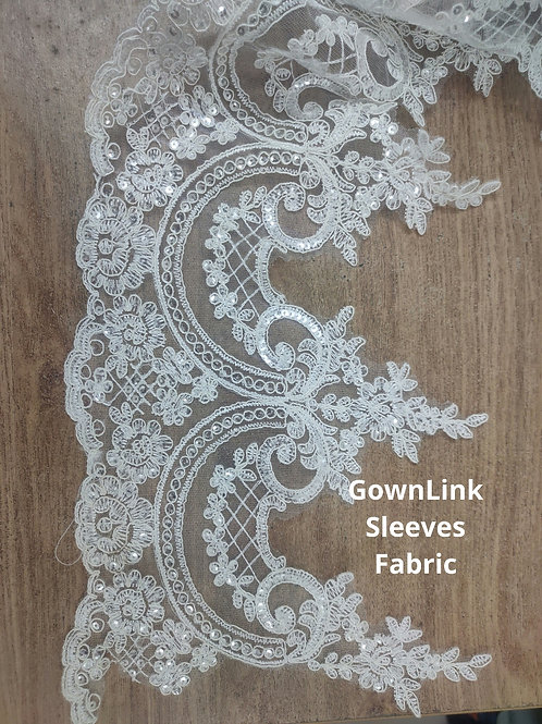 GownLink Lace Fabric Sequence work  14 Inch Length