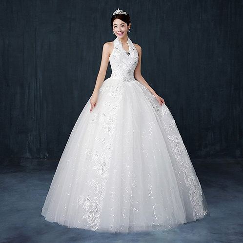 Wedding Christian Special Occasion Gown Boat Neck QD79