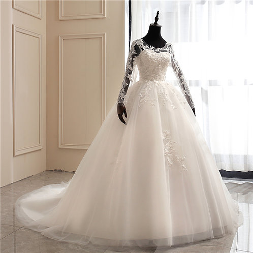 Christian Bridal Catholics Bridal Long Train Gown HS1043