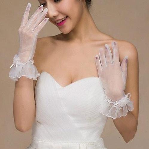 Christian wedding Bridal Pearl Gloves  G010