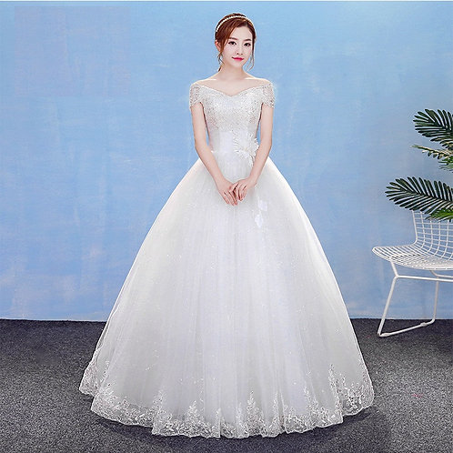 Christian Wedding Gowns Catholic Gowns White Wedding Frock HM7003