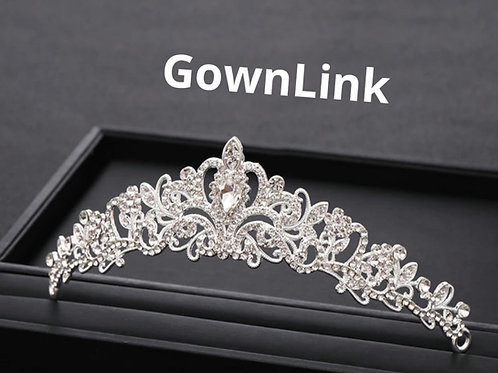Christian Bride Hair Crown GownLink India
