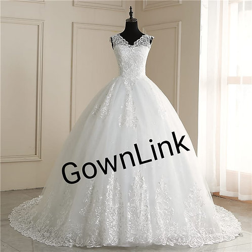 Christian & Catholics Wedding Bridal Train Gown With Sleeves GLVLQD09T