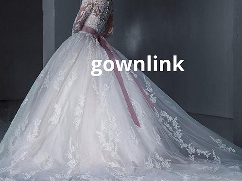 Gownlink Christian Bridal Catholics Bridal Long Train Gown Dress Belt Detachable