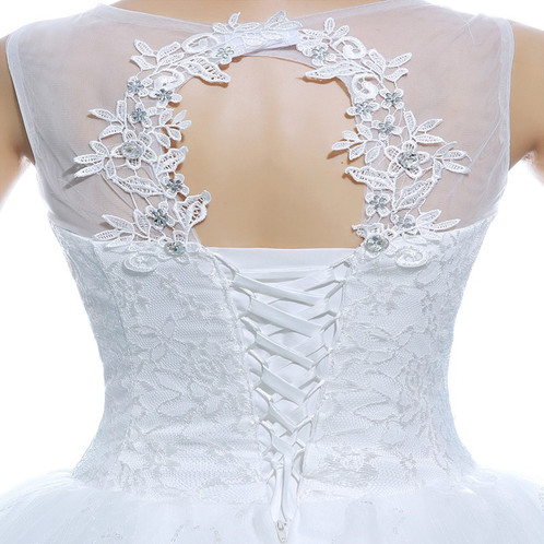 Christian Gown Beautiful O Neck Wedding Dress Ball Gown HMD16050066 ...