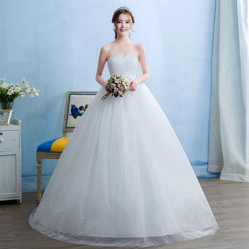 Wedding Gown Ball Dress Tube Christian Wedding Special Occasion Gown ...