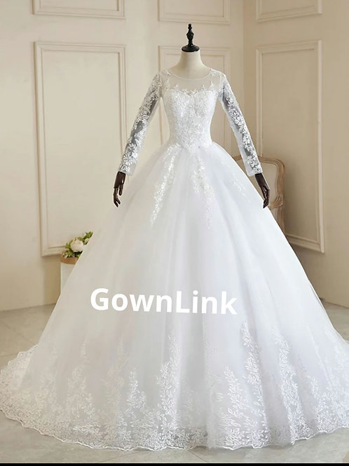 Christian Wedding Gowns Catholics White Train Gown GLD30T  Train India