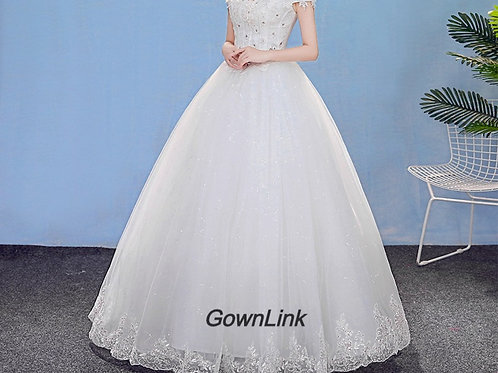 Christian Wedding Gowns Catholic Gowns White Wedding Frock HM7001 India