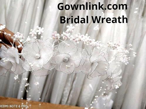 Christian Bridal Floral Wreath Crown White  India