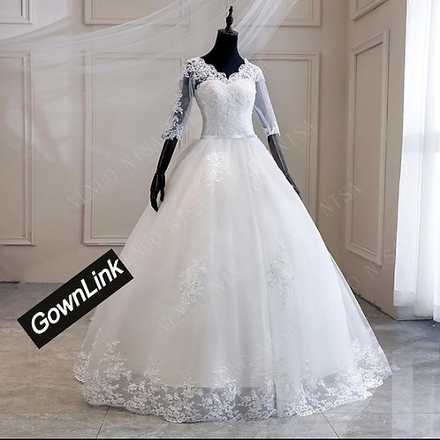 Gownlink Christian and Catholic Bridal Wedding Dress GLHS14T India