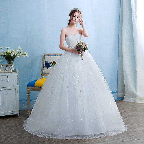 Wedding Gown Ball Dress Tube Christian Wedding Special Occasion Gown TD11