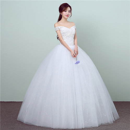 Off Shoulder   Wedding  Gown Christian  Wedding Special Occasion Gown GZ