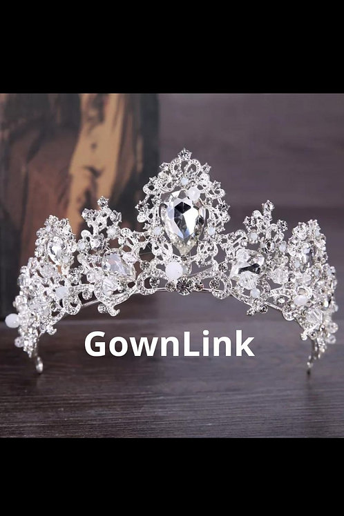 GownLink Christian Bridal Silver Tiara ,Crown Silver India