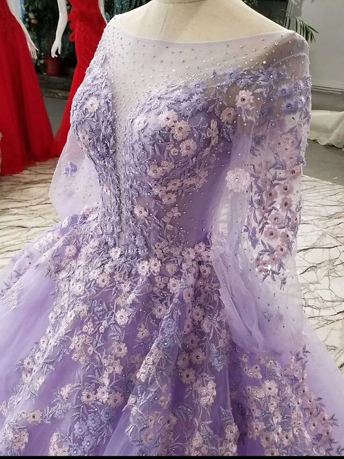 Celebrity Style High Quality Purple Premium Gowns