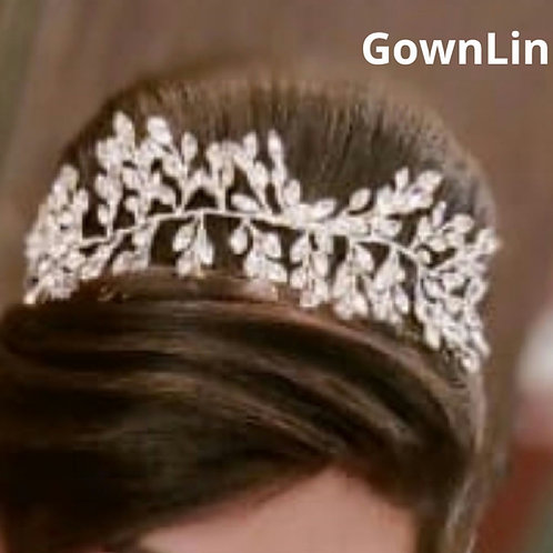 Wedding Crown Silver wreath For Bridal Hair Accessories Gownlink W 79 India