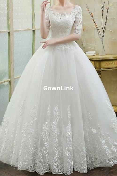Gownlink Christian and Catholic Bridal Wedding Dress  GLD30 India