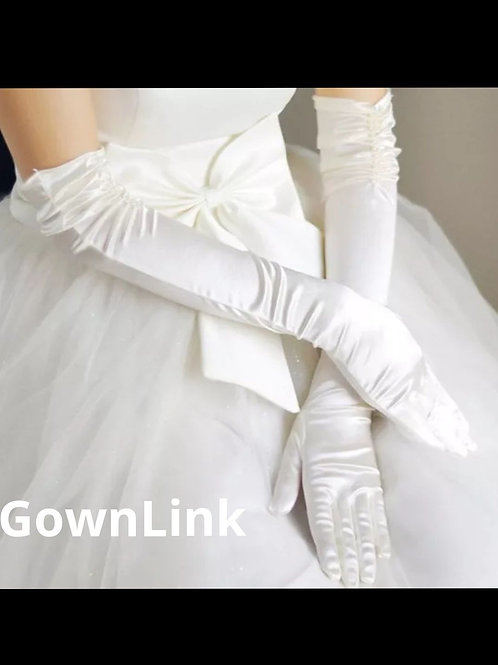 Christian wedding Bridal Long Bow Fingerless [16] Gloves India