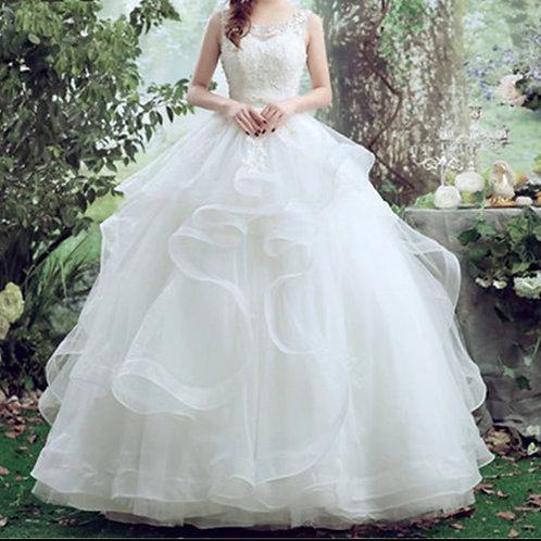Premium Wedding white Christian wedding gown GLHS037 India