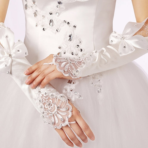 Beautiful Christian wedding Bridal Gloves G05  India