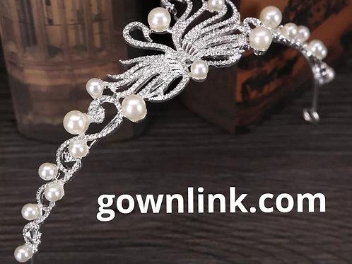 Christian Bride Hair Pearl Crown