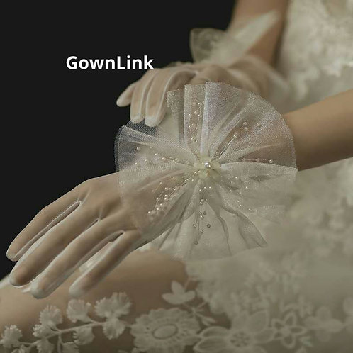 Christian Wedding Bridal Gloves GownLink India