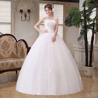 Beautiful Tube Wedding  Dress Ball Gown H52