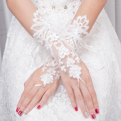 Christian Wedding Gowns Catholic  White wedding gloves   India