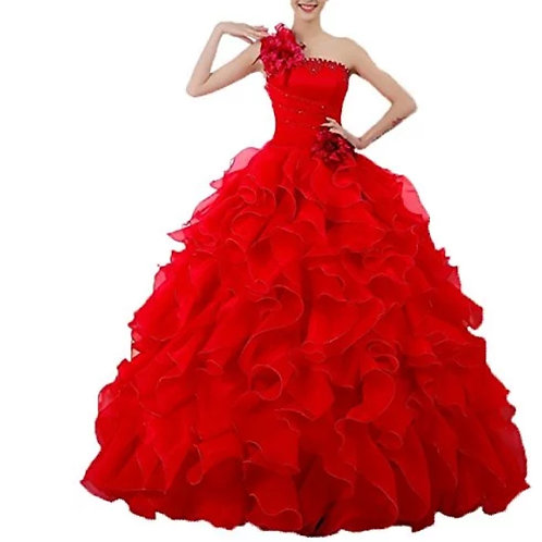 Red Wedding Gown Ball Dress ZH07