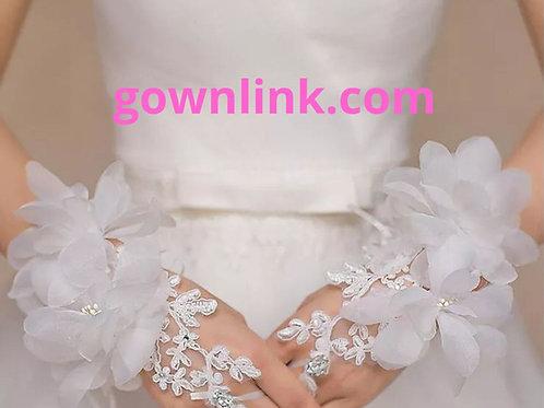 Christian Wedding Floral gloves
