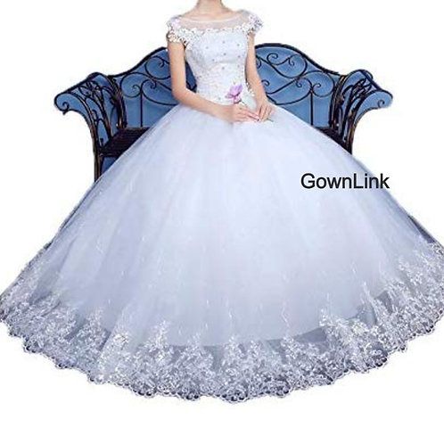 Gownlink Christian Catholics Wedding Bridal Ball Gown GLLQD05 With Sleeves India