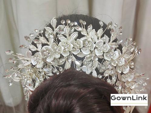 Beautiful Christian wedding Bridal Metal Wreath Crown GownLink W 86 India