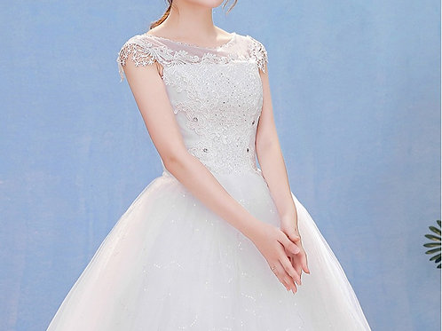 Christian Wedding Gowns Catholic Gowns White Wedding Frock HM7002