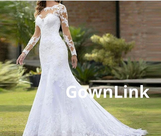 Gownlink Christian Bridal Catholics Bridal Mermaid Train Gown