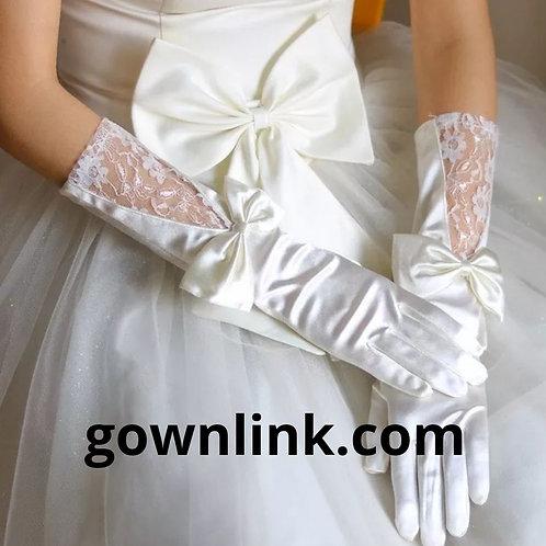 Christian Wedding Bridal With Finger long gloves
