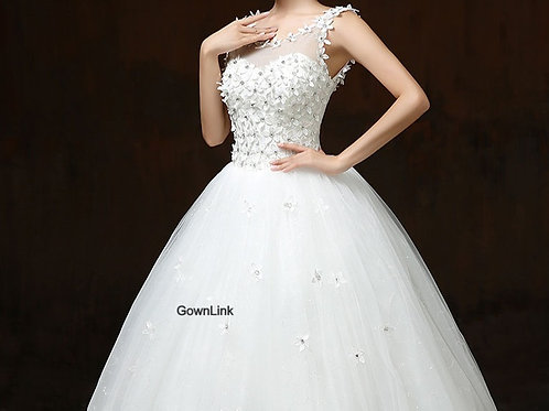 Christian & Catholics Wedding  Ball Gown GLTH58 With Sleeves India