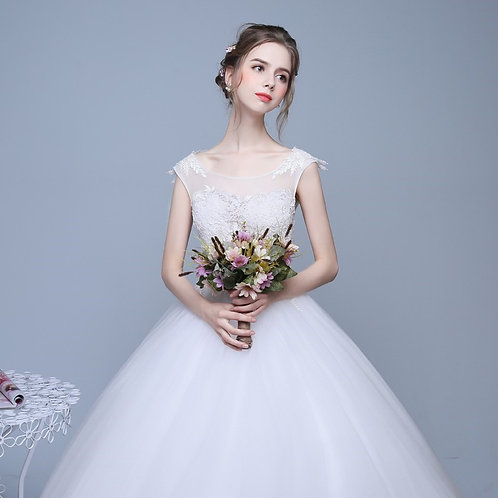 Christian Gown Beautiful Wedding  Dress Gown HS580