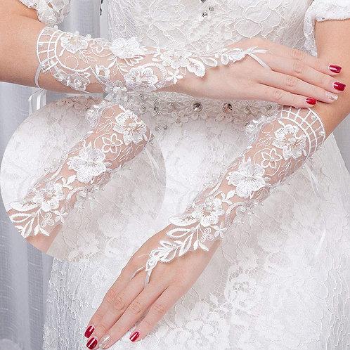 Christian wedding White Bridal Gloves  India