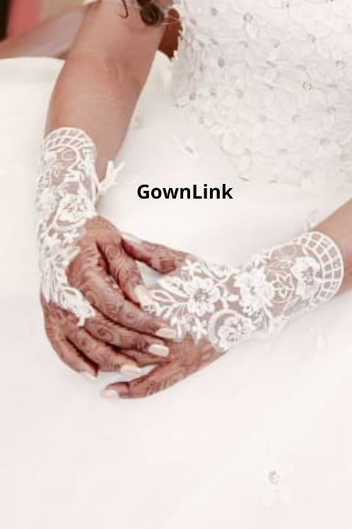 Christian wedding White Bridal Gloves [8] India