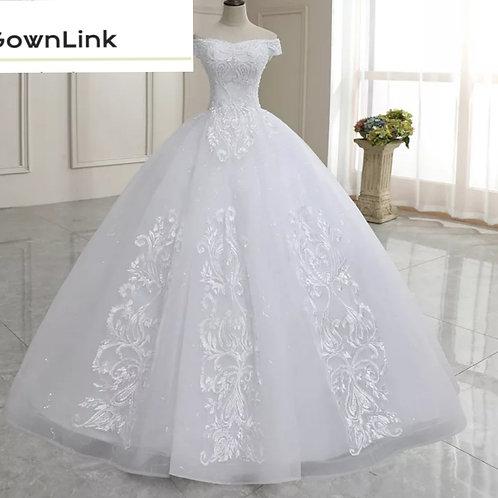 Gownlink Christian and Catholic Bridal Wedding Ball Dress GLOFFB India