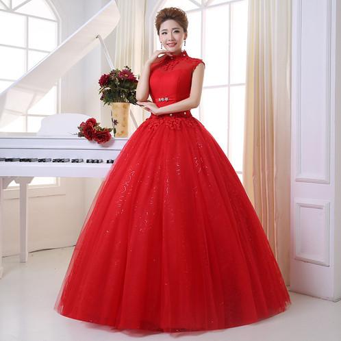 Wedding Dress White & Red Wedding Princess Party, Christian ...