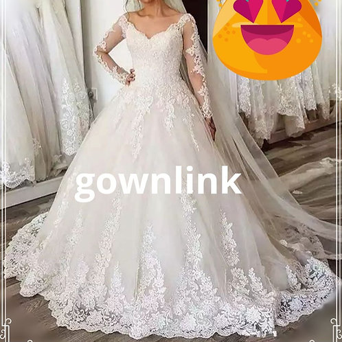 Christian Wedding Gowns Catholics Wedding White Dress Premium GLWD7305 India
