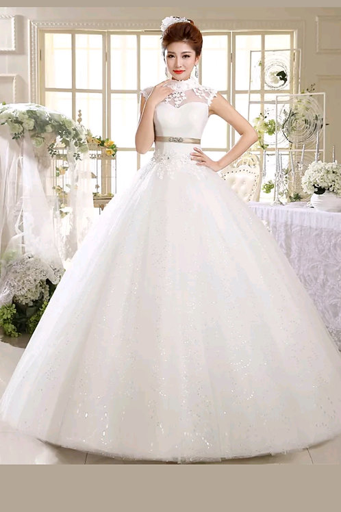 GOWNLINK Christian wedding gown HS537 White