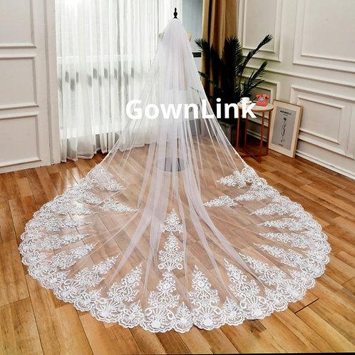 Christian Wedding Catholics wedding white long 2 Layer veil  I