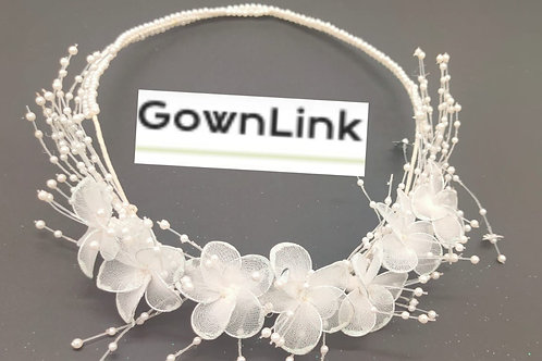 Christian Bridal Floral Wreath Crown White  India