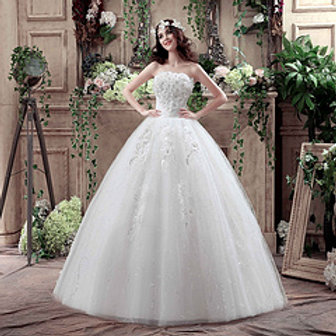 Christian Gown Beautiful Tube Wedding Dress Ball Gown HMD16050063