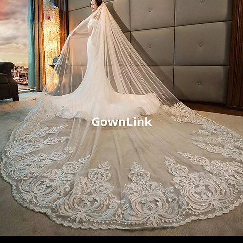 Christian Wedding Catholics wedding white long 2 Layer Veil Code , V-7